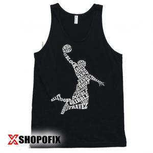 Men's Basketball Player Typography Tanktop