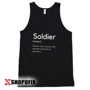 Soldier Funny Explanation tanktop