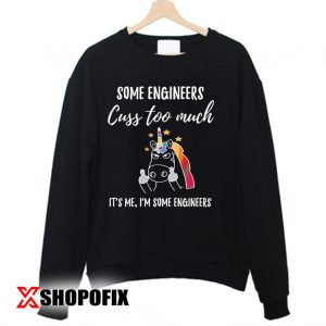 Unicorn, Engineer Shirt Sweatshirt