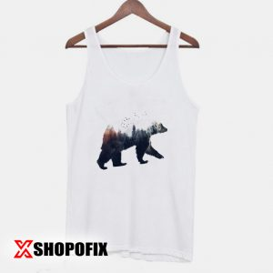 bear and forest drawing tanktop