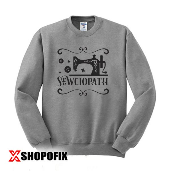 sewciopath wine glass sweatshirt