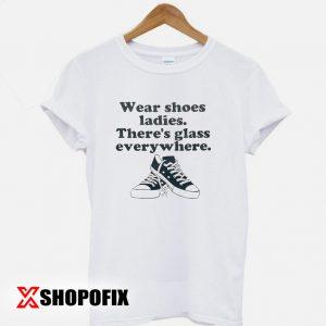 Wear shoes ladies tshirt
